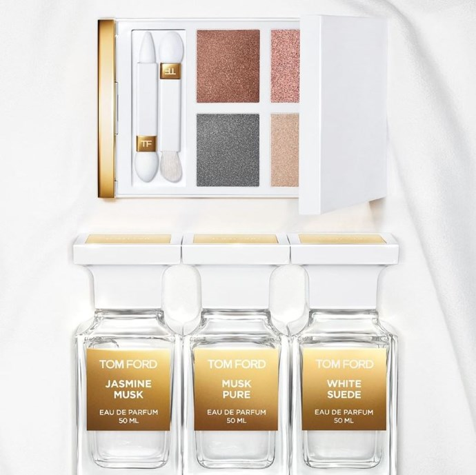 **TOM FORD BEAUTY WHITE SUEDE EYE QUAD** <br><br> Inspired by Tom Ford's existing fragrance offerings, this stunningly soft palette (we're already coveting that silvery grey) is set to become a 2019 staple. We won't lie: the luxe packaging is also a huge draw-card. This one is already out in the US, but an Australian release remains to be seen. <br><br> **Release date:** TBC.