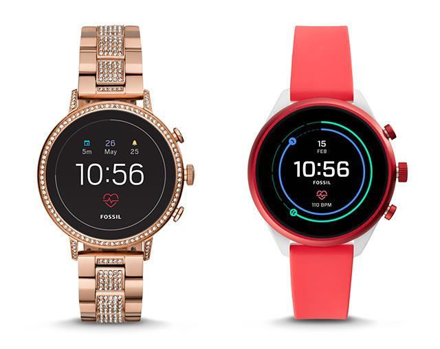 "[Fossil Gen 4 Smartwatch in Rose Gold](https://www.fossil.com/au/en/wearable-technology/smartwatches/smartwatches-learn-more.html?cid=aff:awar:blog:awarenesselle3&utm_source=elleblog20180124-elleelle3|target=""_blank""|rel=""nofollow""), $469; [Fossil Sport Smartwatch in Red](https://www.fossil.com/au/en/wearable-technology/smartwatches/sport-smartwatches-learn-more.html?cid=aff:awar:blog:awarenesselle4&utm_source=elleblog20180124-elleelle4|target=""_blank""|rel=""nofollow""), $429"
