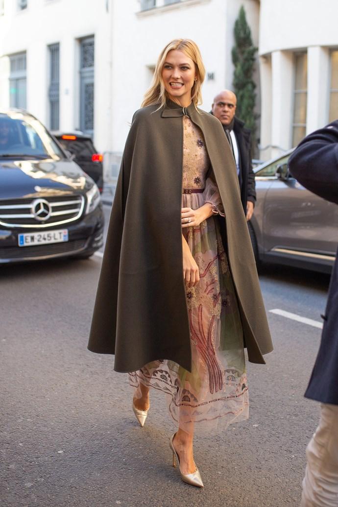 Karlie Kloss at Dior.