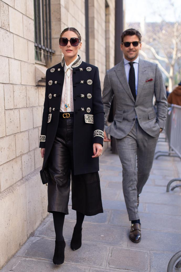 Olivia Palermo and her husband, Johannes Huebl, at Dior.