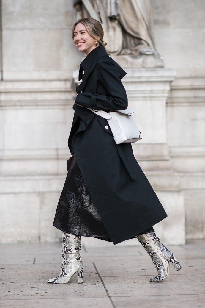 A guest at Dior.