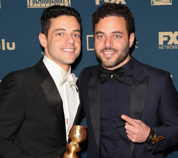 Rami and Sami Malek at the Golden Globes on January 6, 2019.