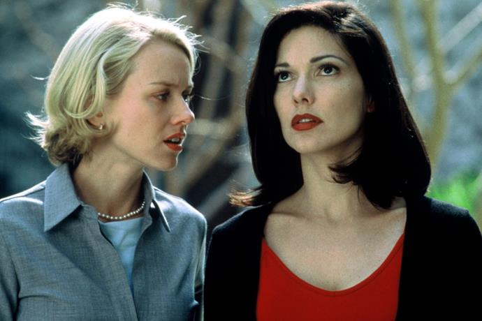 ***Mulholland Drive*** <br><br> Naomi Watts and Laura Harring making passionate love is basically the most gorgeous girl-on-girl sex scene you'll ever see.