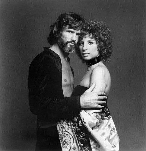 Kris Kristofferson and Barbra Streisand in *A Star Is Born* (1976).