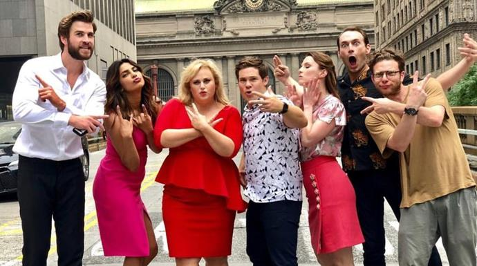 ***Isn't It Romantic (28/2/2019)***  <br><br> A cynical young woman (Rebel Wilson) who doesn't believe in love (and hates romantic comedies) wakes up one day to discover that she is somehow trapped inside a romantic comedy.