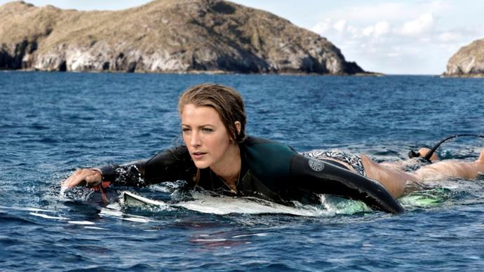 ***The Shallows (28/2/2019)***  <br><br> A mere 180 metres from shore, surfer Nancy (Blake Lively) is attacked by a great white shark, with her short journey to safety becoming the ultimate contest of wills.