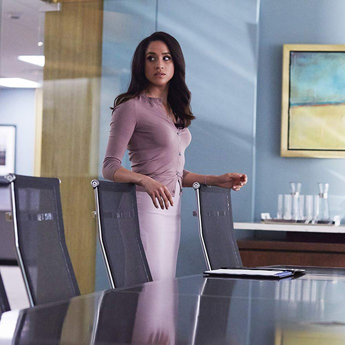 Meghan Markle, the Duchess of Sussex, in *Suits*.