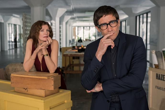 ***Velvet Buzzsaw***  <br><br> This Netflix film, due out in February, is from the writer/director responsible for eerie 2014 thriller *Nightcrawler* and stars Jake Gyllenhaal as an art critic who discovers a series of paintings by an unknown artist. The paintings are brilliant and could spell major success, but he soon learns they have a sinister side. The rest of the cast includes Toni Collette, Tom Sturridge, John Malkovich and *Stranger Things* star Natalia Dyer.
