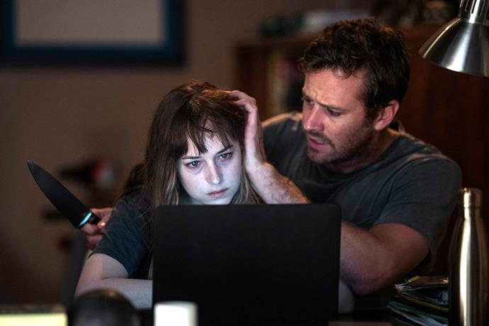 ***Wounds*** <br><br> Dakota Johnson and Armie Hammer star in this twisty-turny thriller that follows a New Orleans bartender whose life falls apart after he discovers a mobile phone left behind at the bar.