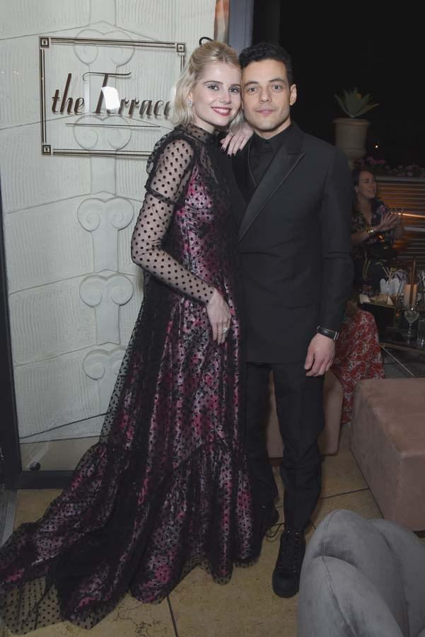 Lucy Boynton and Rami Malek.