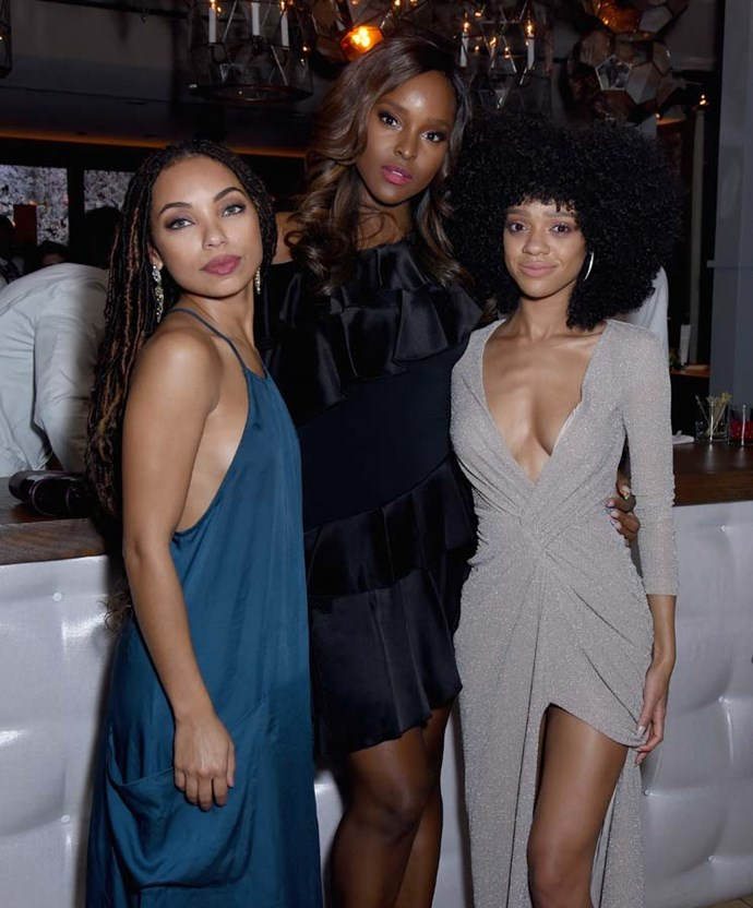 Logan Browning, Antoinette Robertson and Tiffany Boone.