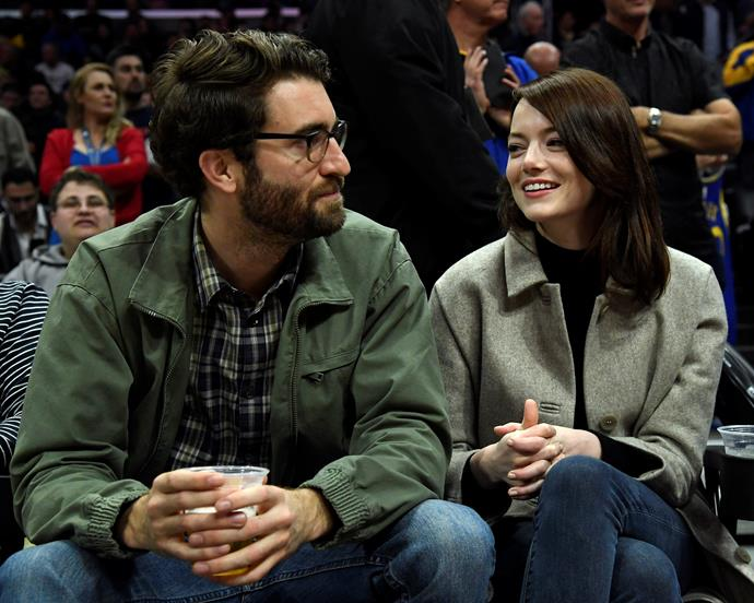 Emma Stone and boyfriend Dave McCary on January 18, 2019.