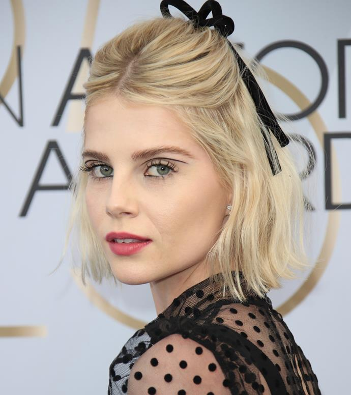 Lucy Boynton at the SAG Awards on January 27, 2019.