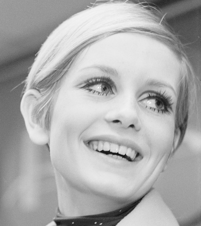 British supermodel Twiggy, pictured some time in the 1960s.