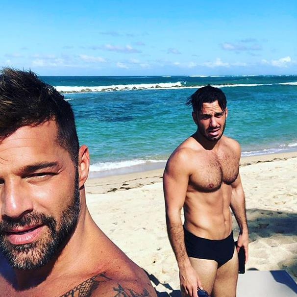 """***Ricky Martin & Jwan Yosef*** <br><br> In 2018, singer and actor Ricky Martin revealed that he met his fiancé Jwan Yosef on Instagram, after he found pictures of his partner's artwork and decided to message him. Martin said: """"I'm scrolling [through Instagram] and I see this beautiful piece of art, and I'm like, 'Whoa, how cool! Who is this?' Then I start checking all of a sudden, and I'm like: 'Ooh, oooh.' And then I wrote to him."""" <br><br> As of 2019, the couple share two sons. <br><br> *Image: [@ricky_martin](https://www.instagram.com/p/Bq54Z5yHESi/