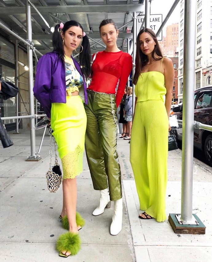 """***[PRISCAVera](https://www.instagram.com/priscavera/ target=""""_blank"""" rel=""""nofollow"""")***<br><br> """"A stand-out collection for me from the SS19 shows—PRISCAVera effortlessly combines pastels and neons with textures like silks and ribbed knits. Wear each piece separately to add a pop of colour to your outfit, or if you're brave enough, a full look makes a real statement."""" Samantha Wong, market editor.<br><br> Buy this: Fire-print turtleneck, $374 at [Farfetch](https://www.farfetch.com/au/shopping/women/priscavera-fire-print-fitted-top-item-13390631.aspx?storeid=9031 target=""""_blank"""" rel=""""nofollow"""")."""