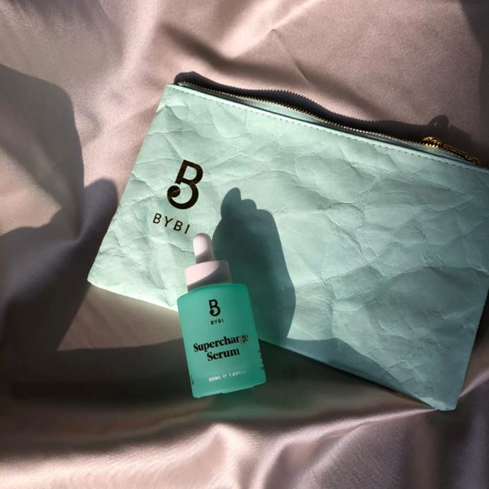 """***[Bybi's 'Supercharge Serum'](https://bybi.com/collections/skincare/products/supercharge-serum