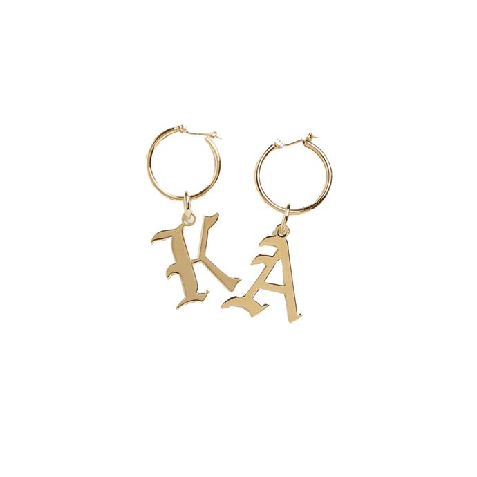 """*Letter earrings, to rep each other always*<br><br> Wearing your initials as jewellery has been done (hi, Carrie Bradshaw), but wearing your BFF's initials instead? Now that's fresh.<bR><br> Hoop earring by Reliquia, $84 at [The Iconic](https://www.theiconic.com.au/letter-a-hoop-earring-727934.html