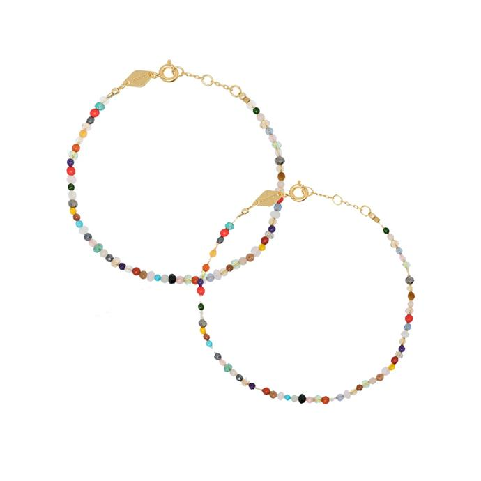 """*Delicate bracelets, so you match wherever you go*<br><br> Anni Lu's range of tiny earrings and bracelets have already reached cult status. Pick two options and add them to your daily assortment—cute and sentimental.<br><br> Bracelet by Anni Lu, $109 at [Farfetch](https://www.farfetch.com/au/shopping/women/anni-lu-iris-18kt-gold-plated-silver-bracelet-item-13049877.aspx