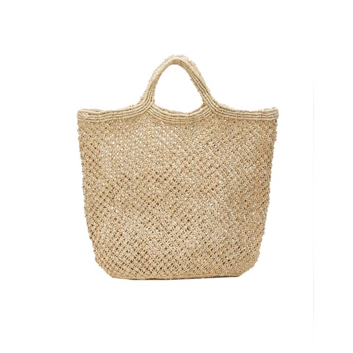 """*A chic straw tote, so your beach selfies are always on point*<br><br> You know what your #FindUsHereAllDay selfies are missing? Two very cute woven totes to hide towels, glasses and a magnum of prosecco.<br><br> Tote by Maison Bengal, $80 at [MyChameleon](https://www.mychameleon.com.au/fashion/bags/jute-macrame-bag-natural-maison-bengal