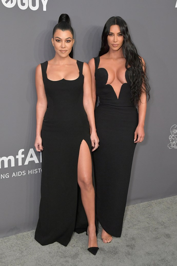 Kourtney Kardashian and Kim Kardashian.