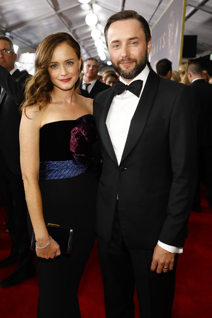 **Alexis Bledel** <br><br> *The Handmaid's Tale* star has one son, born in 2015, with husband Vincent Kartheiser, who you'll recognise from *Mad Men*.