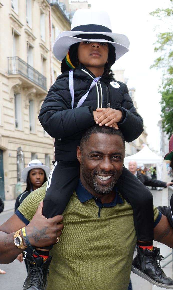 **Idris Elba** <br><br> ...And a son, Winston, four, from his relationship with ex-girlfriend Naiyana Garth.