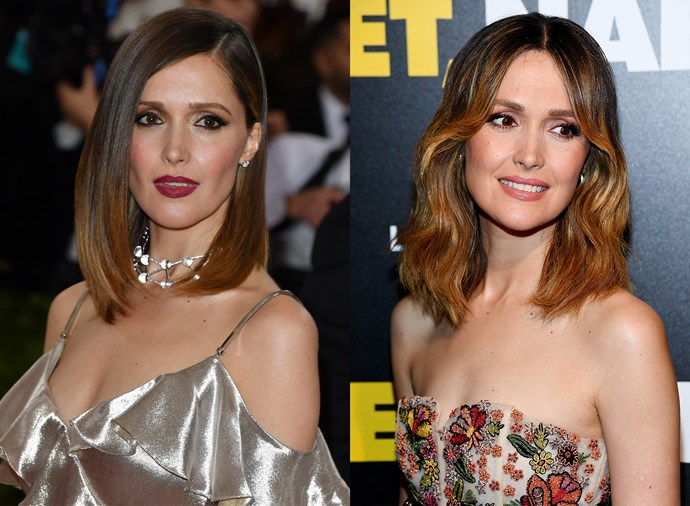 **Rose Byrne** <br><br> Byrne rarely strays from her shoulder-length blunt cut, but she's open to changing it up, from messy curls, to slick and straight.