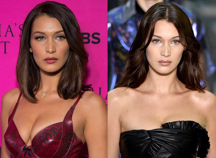 **Bella Hadid** <br><br> With that bone structure, Hadid can carry off any hair look she chooses.