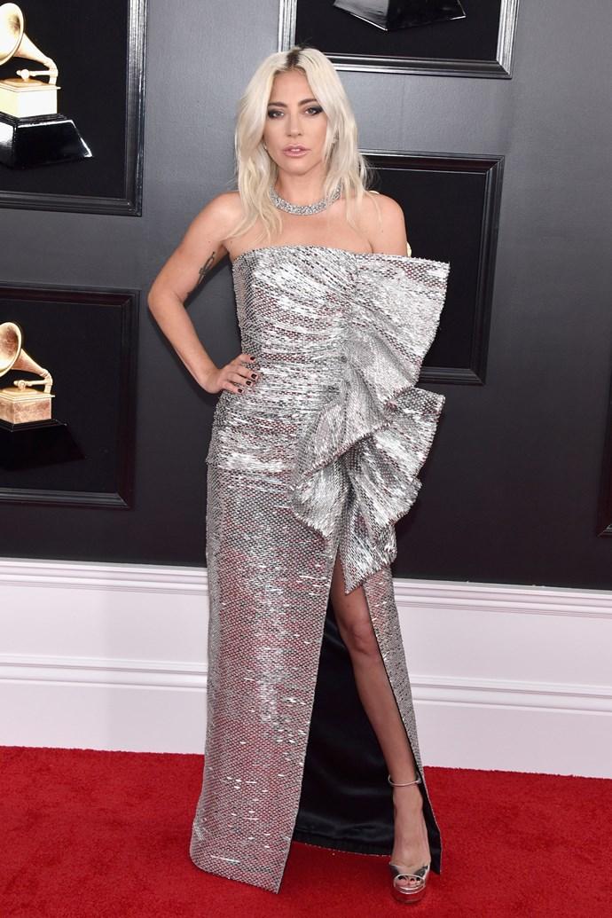 Lady Gaga at the 2019 Grammy Awards on February 10, 2019.