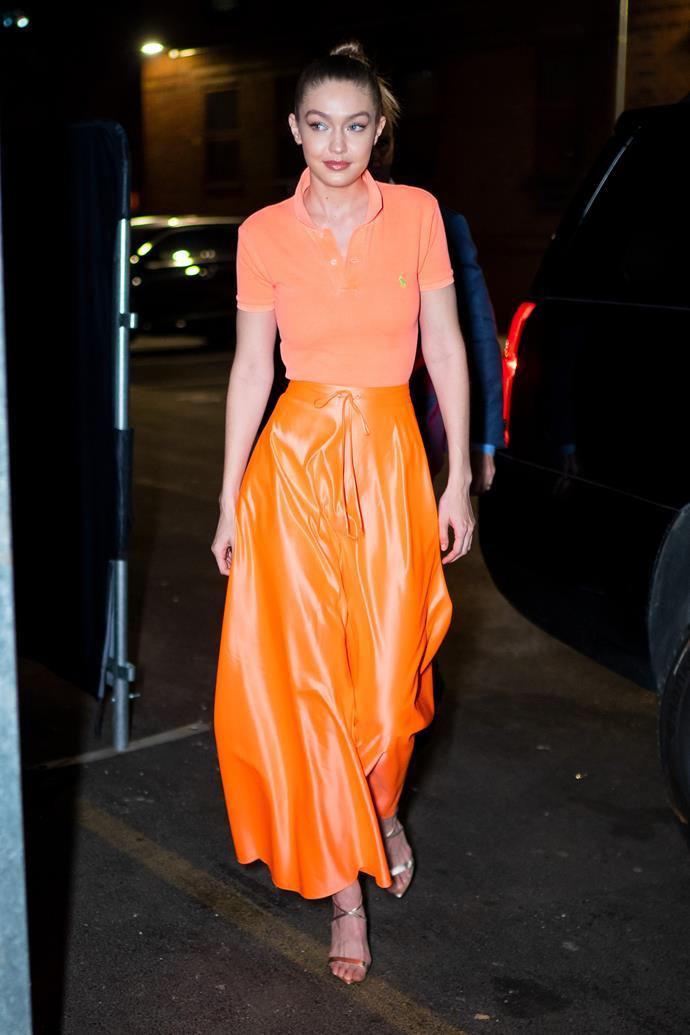 Gigi Hadid in New York.