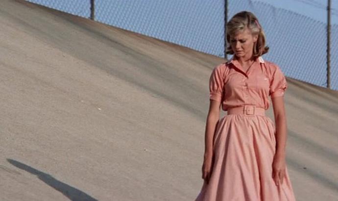 Olivia Newton-John in *Grease* (1978).
