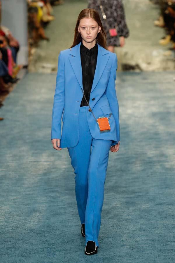 "***CORNFLOWER BLUE***<br><br> Already cementing its place as one of the [It-colours of 2019](https://www.elle.com.au/fashion/2019-fashion-colour-trends-19800|target=""_blank""), we're predicting we'll see quite a bit of sweet, powdery cornflower blue in winter. Whether it's worn head-to-toe or just to brighten up some neutrals, this tone suits everyone.<br><br> As seen at: Carolina Herrera autumn/winter '19."