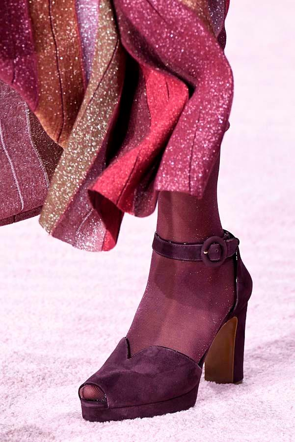 ***SOCK IT TO 'EM***<br><Br> The onset of winter doesn't mean your fancy footwear need be shelved in favour of warmer options. Give your sandals, pumps and mules a winter-update and wear with kitschy socks or tights.<br><Br> As seen at: Kate Spade autumn/winter '19.