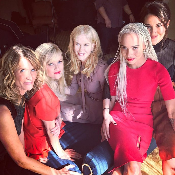 "The famously tight-knit ensemble cast of HBO's *Big Little Lies* have used Valentine's Day to celebrate their close friendships. <br><br>Reese Witherspoon was the first to share her love and respect for her fellow cast members in an Instagram post, writing: ""True love is the love you have for your sisters, your girlfriends, your circle of strong women... and the ones who tell you that you have food in your teeth. Happy #GalentinesDay!"""