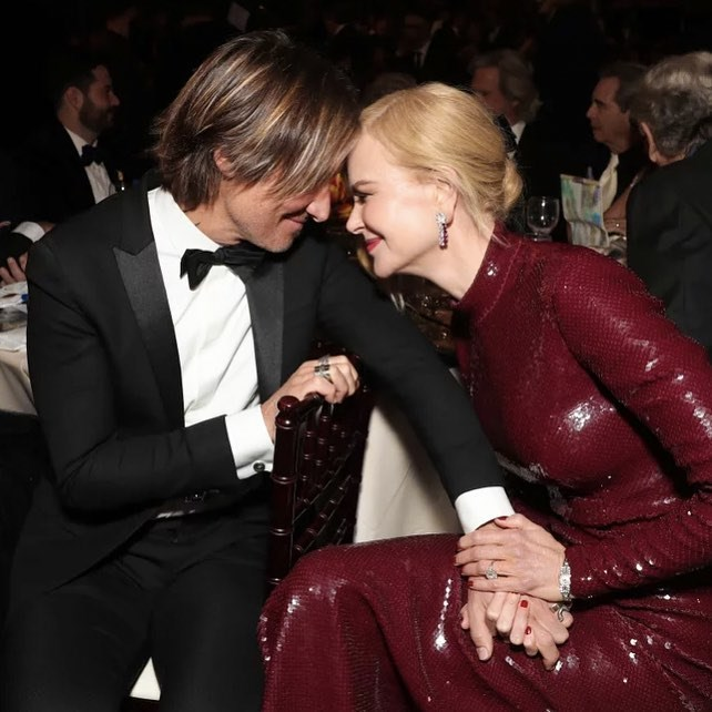 "Nicole Kidman wrote to husband Keith Urban: ""The greatest thing you'll ever learn is just to love and be loved in return. 😉❤️️ Happy #ValentinesDay, everyone xx #MoulinRouge""."