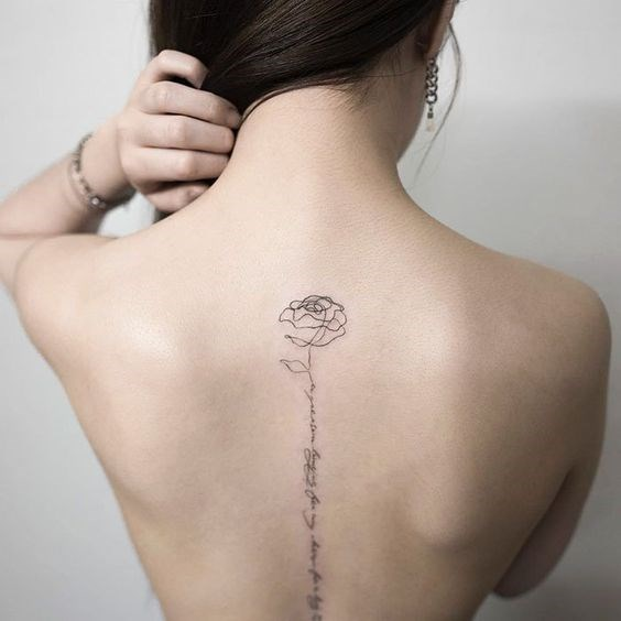 ***Spine Tattoos***<br><br> Not for the faint of heart, spine tattoos are also seeing a surge in popularity. Whether kept simple or going more complicated, we think we'll be seeing a few of these in the future.<br><br> Image via Pinterest.