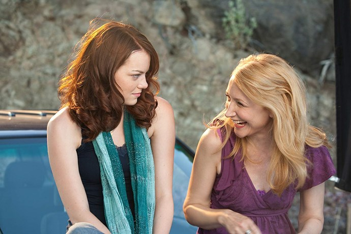 **Emma Stone and Patricia Clarkson in *Easy A* (2010)** <br><br> Stone and Clarkson don't just look similar in *Easy A*—they're practically the same person. Clarkson plays main character Olive's free-wheeling, typically Californian mother, and the two are a breath of fresh air in the scenes they share.