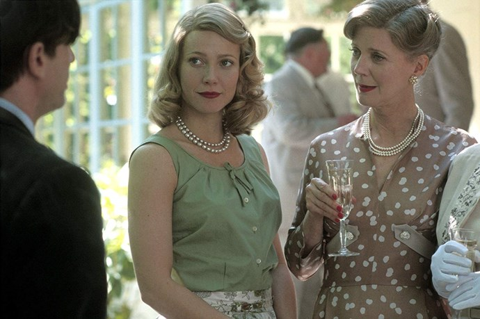 **Gwyneth Paltrow and Blythe Danner in *Sylvia* (2003)** <br><br> Danner and Paltrow might have looked eerily similar as a mother-daughter duo in *Sylvia*, but it's because they're actually mother and daughter *IRL*. Paltrow was introduced to acting by her mother Danner, who's been an actress for decades, and it was all uphill from there.