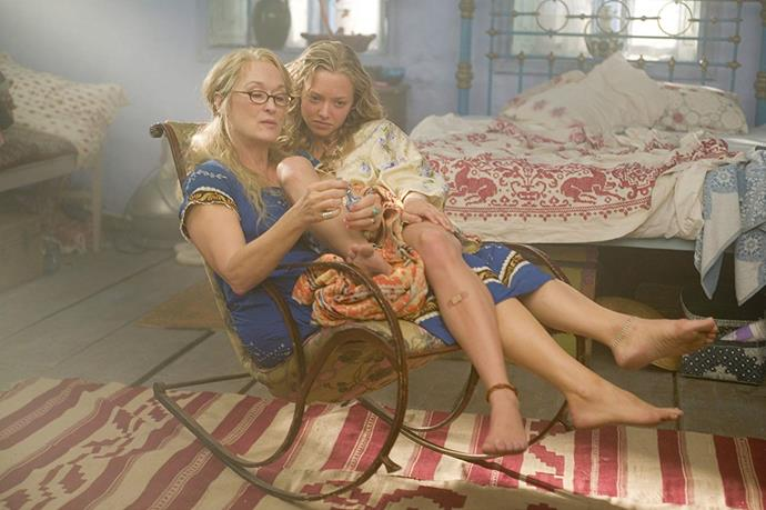 **Meryl Streep and Amanda Seyfried in *Mamma Mia!* (2008) and Mamma Mia! Here We Go Again (2018)** <br><br> We're obviously still perplexed as to how Seyfried's character Sophie has an American accent, despite having lived in Greece for her entire life. However, one thing we can't deny that she could pass as the real-life daughter of her *Mamma Mia!* mother, Meryl Streep.