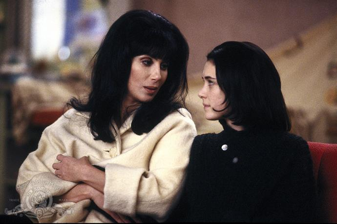 **Cher and Winona Ryder in *Mermaids* (1990)** <br><br> Weirdly enough, the 1990 comedy film *Mermaids* is the only time that '90s phenom Ryder and Academy Award winner Cher have been on screen together. Still, we can't deny how much the two could pass as an IRL mother-daughter duo, even today.