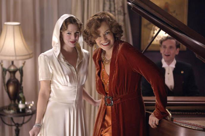 **Drew Barrymore and Jessica Lange in *Grey Gardens* (2009)** <br><br> Barrymore and Academy Award winner Lange were so, so good in 2009's *Grey Gardens*, where they played First Lady Jackie Kennedy's real-life aunt and first cousin (known for their slight madness).