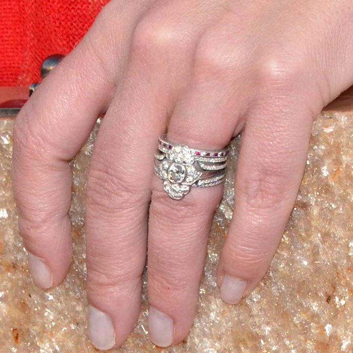 Christina Applegate's vintage ring also has that same cluster style.