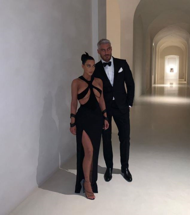 ***The main hallway*** <br><br> While Kardashian shared this picture to Twitter of herself in an amazingly risqué Mugler dress, fans were perplexed at this glimpse inside her hallway, which includes massively high ceilings and almost zero decorations or furniture.