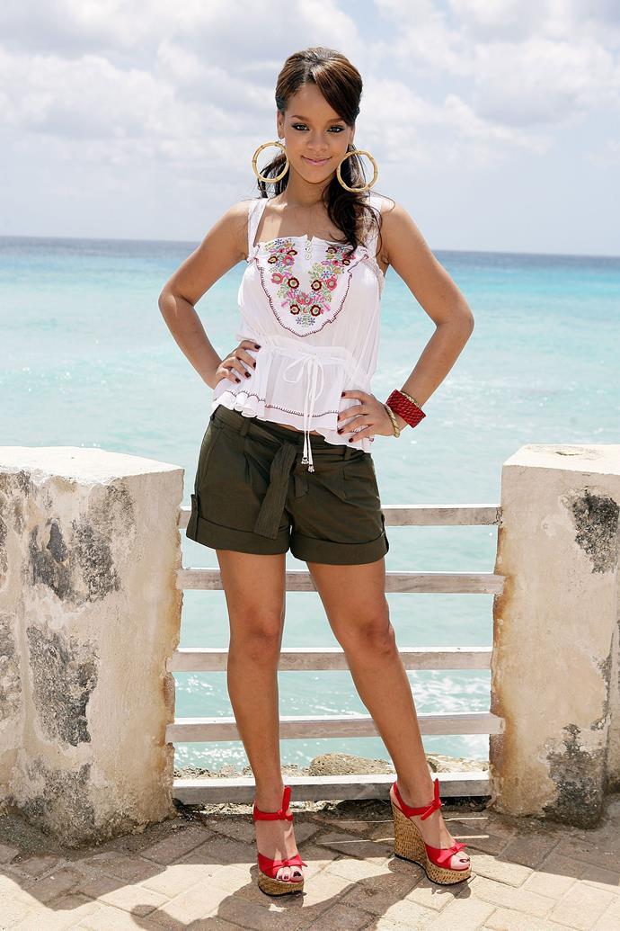 Rihanna in St. Michael, Barbados on April 22, 2006.