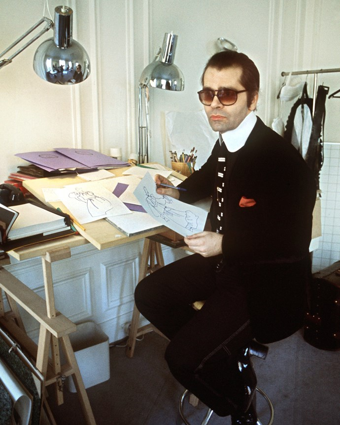 At his office in 1978.