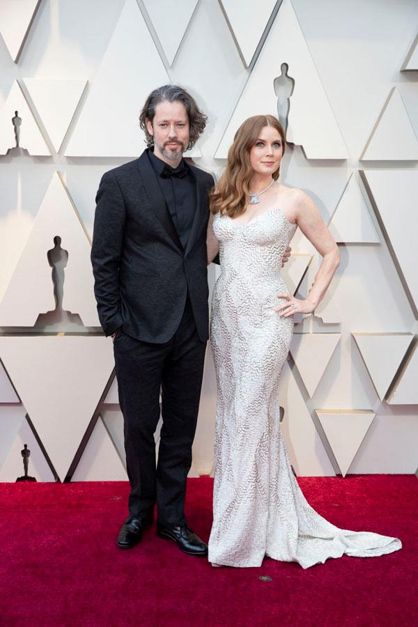 *Vice* best supporting actress nominee Amy Adams with husband and partner of 17 years, Darren Le Gallo.