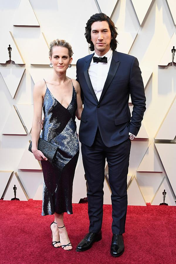 *Star Wars* actor Adam Driver with his wife of five years, Joanne Tucker.
