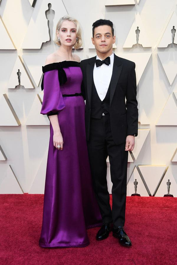 *Bohemian Rhapsody* best actor nominee Rami Malek with co-star and girlfriend, Lucy Boynton.