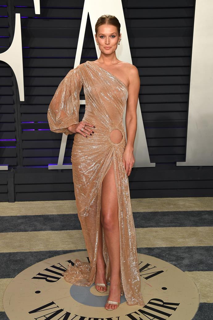 Toni Garrn in Jean-Louis Sabaji Couture.